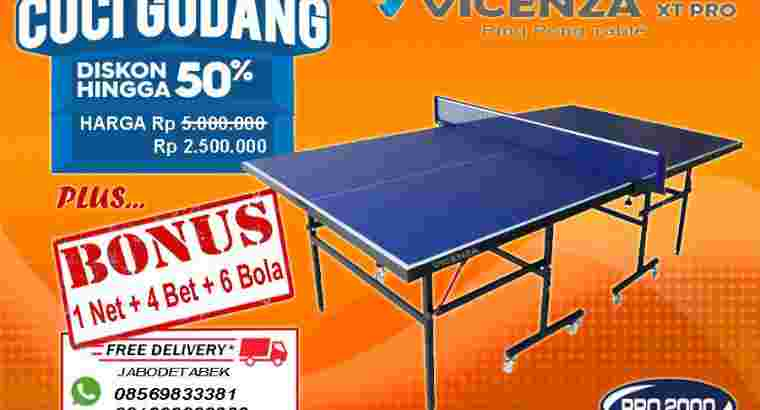 promo diskon tenis meja ping pong merk VICENZA