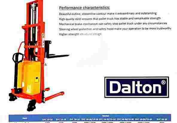Stacker Semi Electric Dalton 1 Ton 3 Meter Semarang