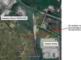 Dijual Tanah Industri/Perumahan Sebelah Kawasan Industri Indotaisei, Kalihurip, Cikampek Karawang