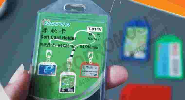 Casing Id Card Murah – Card Holder Karet 1 Kartu