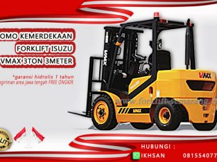 Promo Kemerdekaan Forklift 3 Ton 3 Meter Termurah