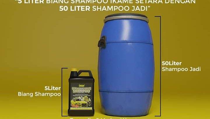 Biang shampo cuci mobil motor