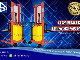 Stacker Semi Elektrik 1-2 Ton tinggi 1-3 Meter