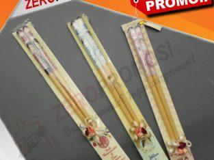Souvenir Wood Chopstick Sumpit Kayu Custom Gambar