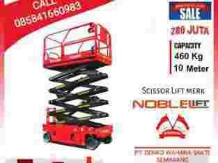 Scissor Lift Noblelift Tangga Hidrolik Platform 10 m di Semarang