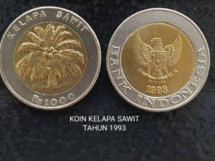 UANG KOIN RP. 1000 KELAPA SAWIT TAHUN 1993