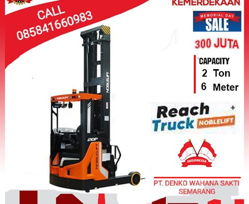 Stacker Reach Truck 2 Ton Tinggi 6 Meter promo