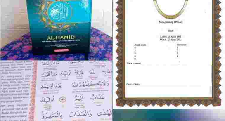 Al Quran terjemah sisipan untuk tahlil