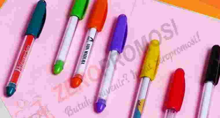 Souvenir Pen Aktif Gel Pen Promosi Insert Paper