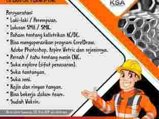 Loker SMK – Operator Teknisi CNC