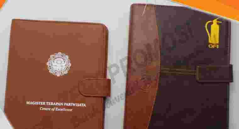 Souvenir Buku Agenda Kulit Tipe AG-Custom Promosi